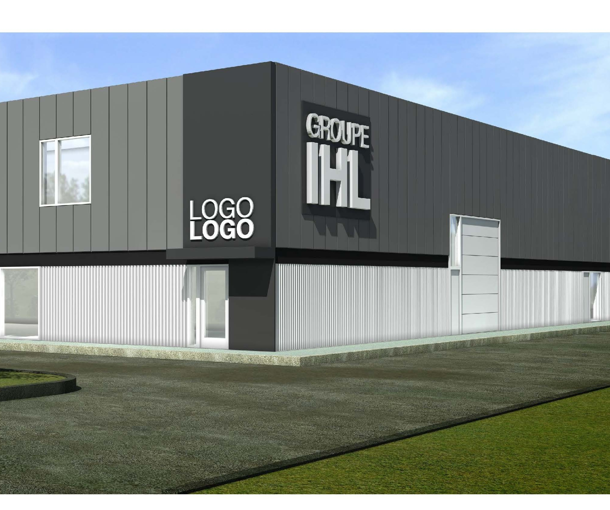 Construction d'un immeuble  locatif du Groupe IHL au Parc industriel  de la Lièvre!