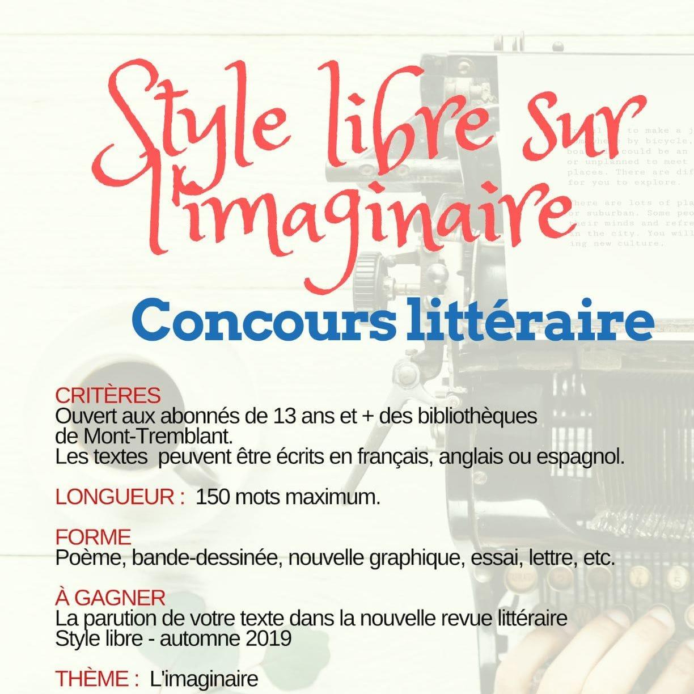 """Concours littéraire """"Style libre sur l'imaginaire"""""""