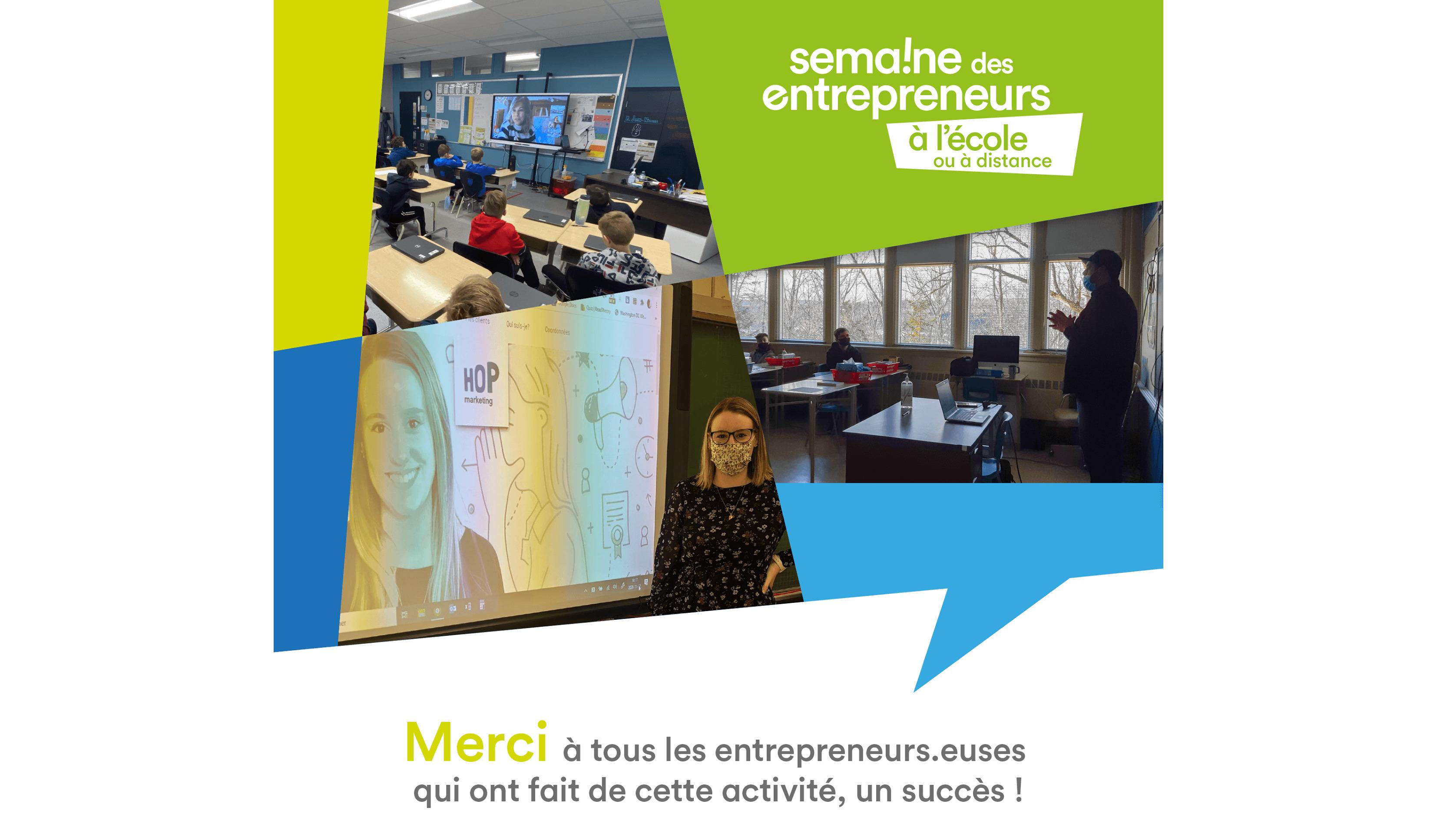 La Semaine des entrepreneurs à l'école : Une belle réussite pour la Mauricie !