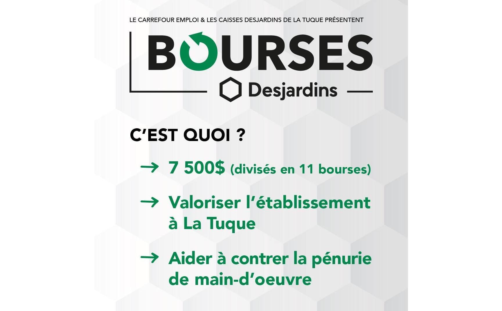 Programme des Bourses Desjardins, un partenariat gagnant pour nos jeunes diplômés!!!