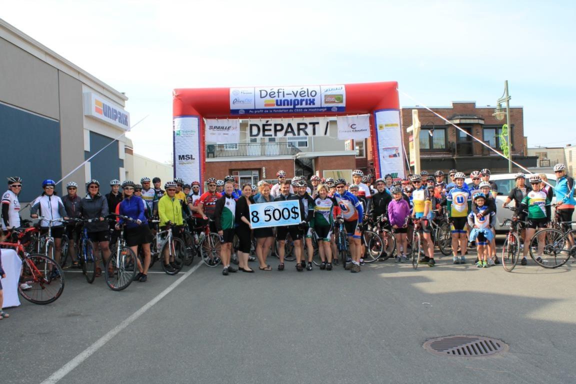 Défi-Vélo Uniprix : 8500$ au profit de la Fondation du