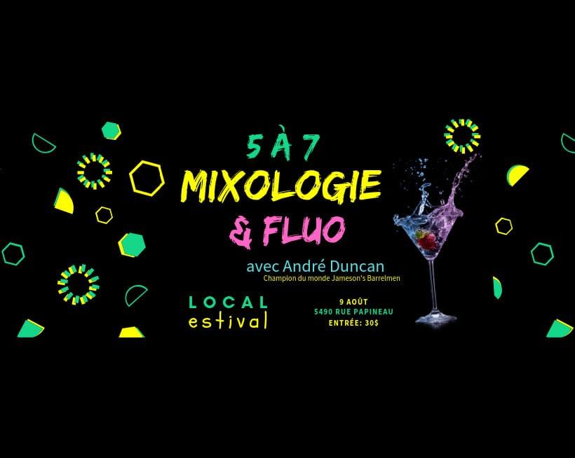 Mixologie et fluo avec André Duncan