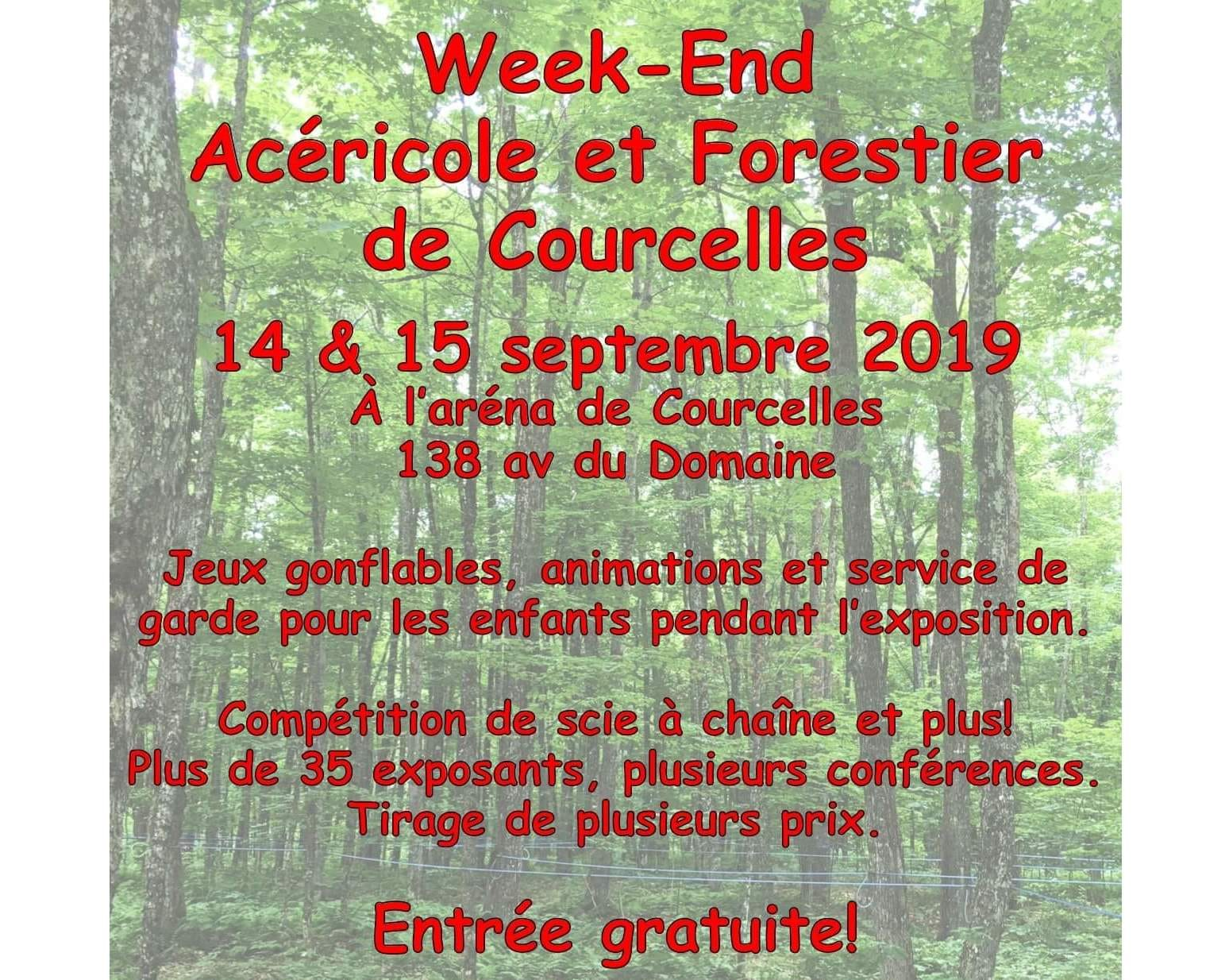 Week-end acéricole et forestier de Courcelles