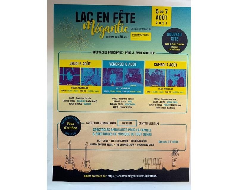 Lac en Fête Mégantic - 5 au 7 août 2021