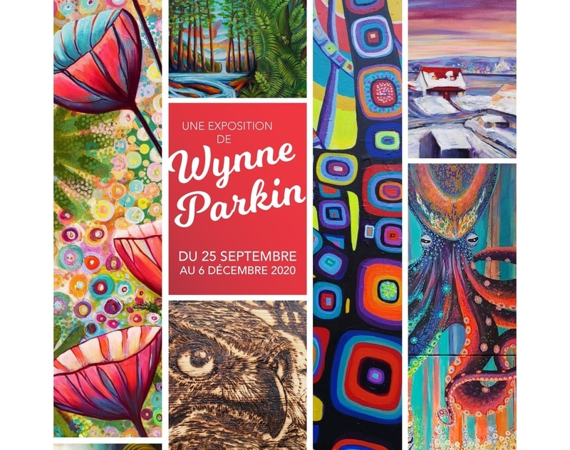 Exposition de Wynne Parkin, Centre Sportif Mégantic