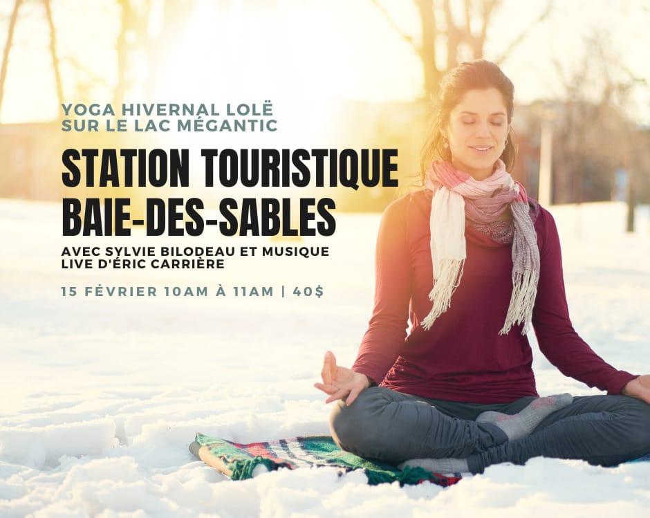 Yoga hivernal sur le lac Mégantic - LOLË