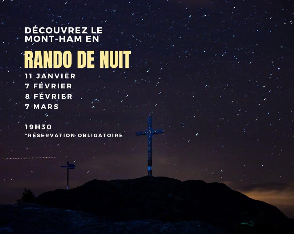 Randonnée sous les étoiles au Mont-Ham
