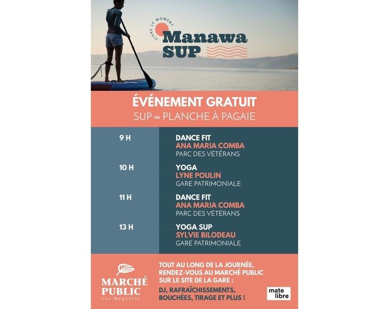Manawa Sup Évènement gratuit au marché public Lac-Mégantic