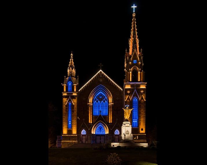 Illumination de l'église Ste-Agnès