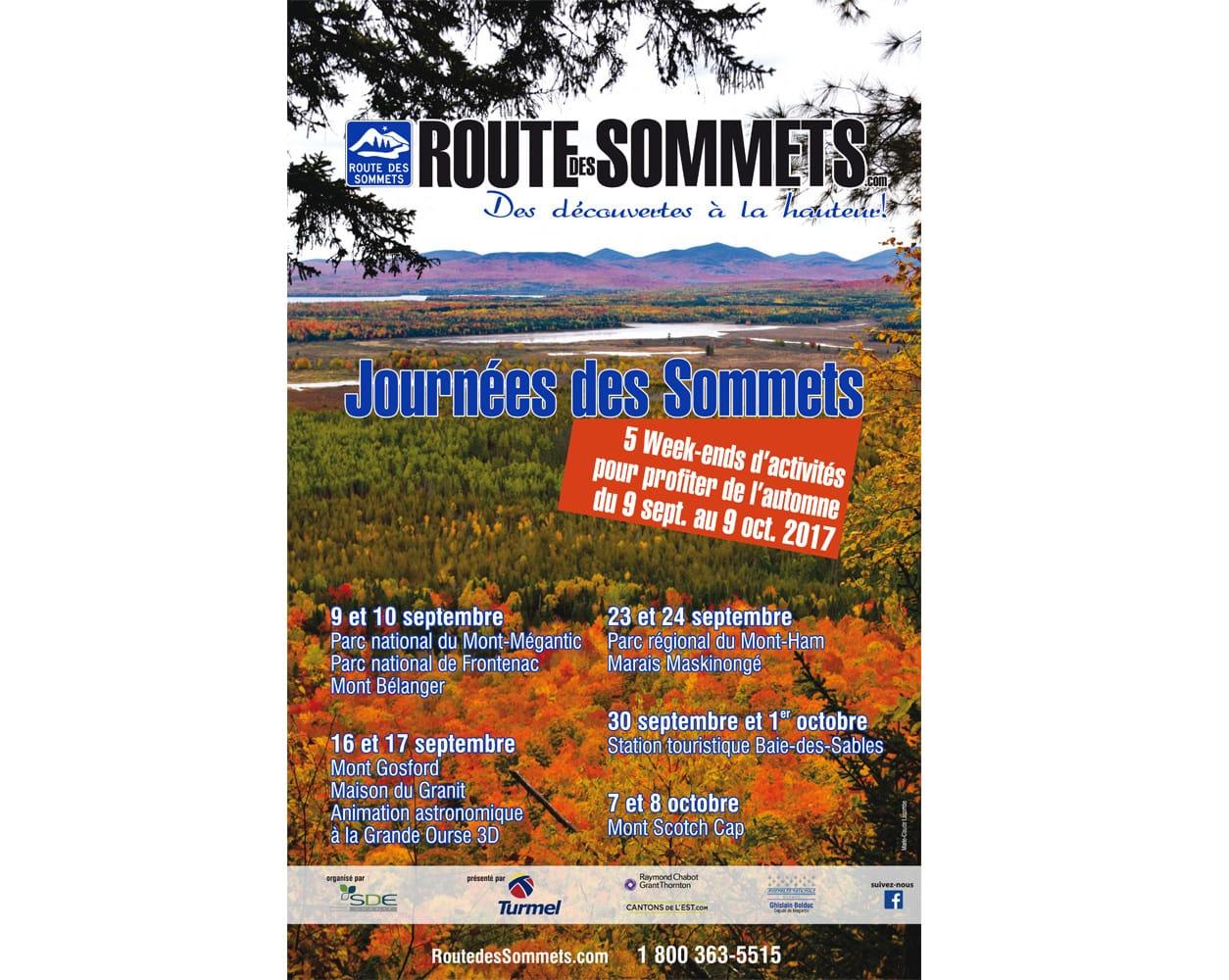 Les Journées des Sommets, 30 septembre et 1er octobre