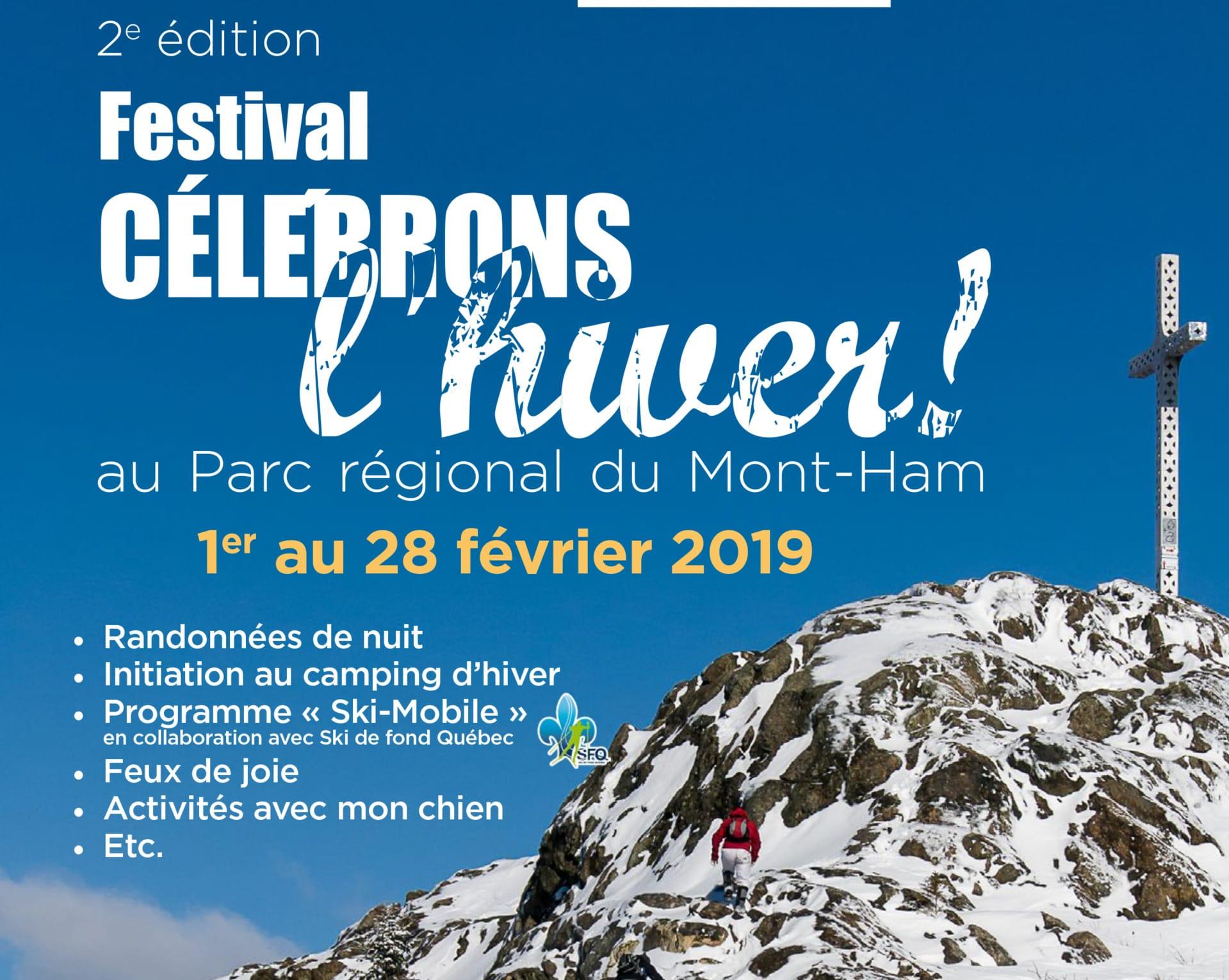 Célébrons l'hiver  au Parc régional du Mont-Ham