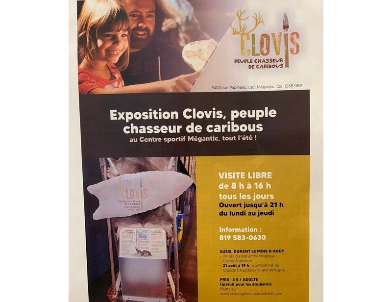 Exposition Clovis, peuple chasseur de caribous