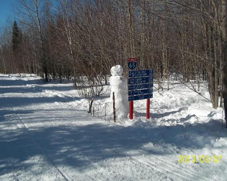 Motoneige, sentiers du Club de Lac-Mégantic