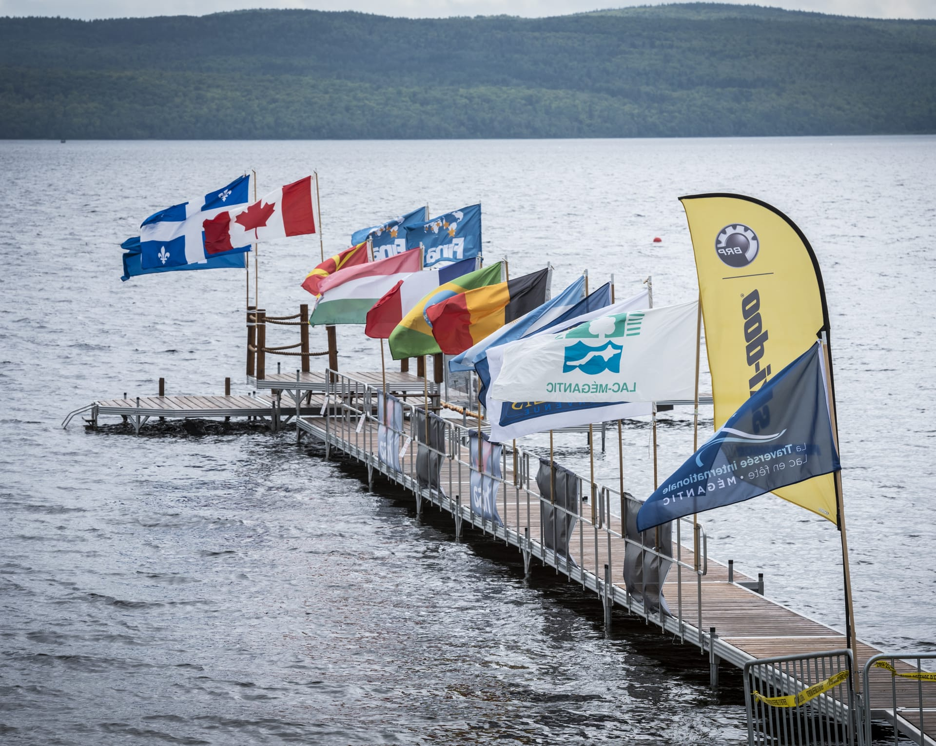 The International crossing of lake Mégantic