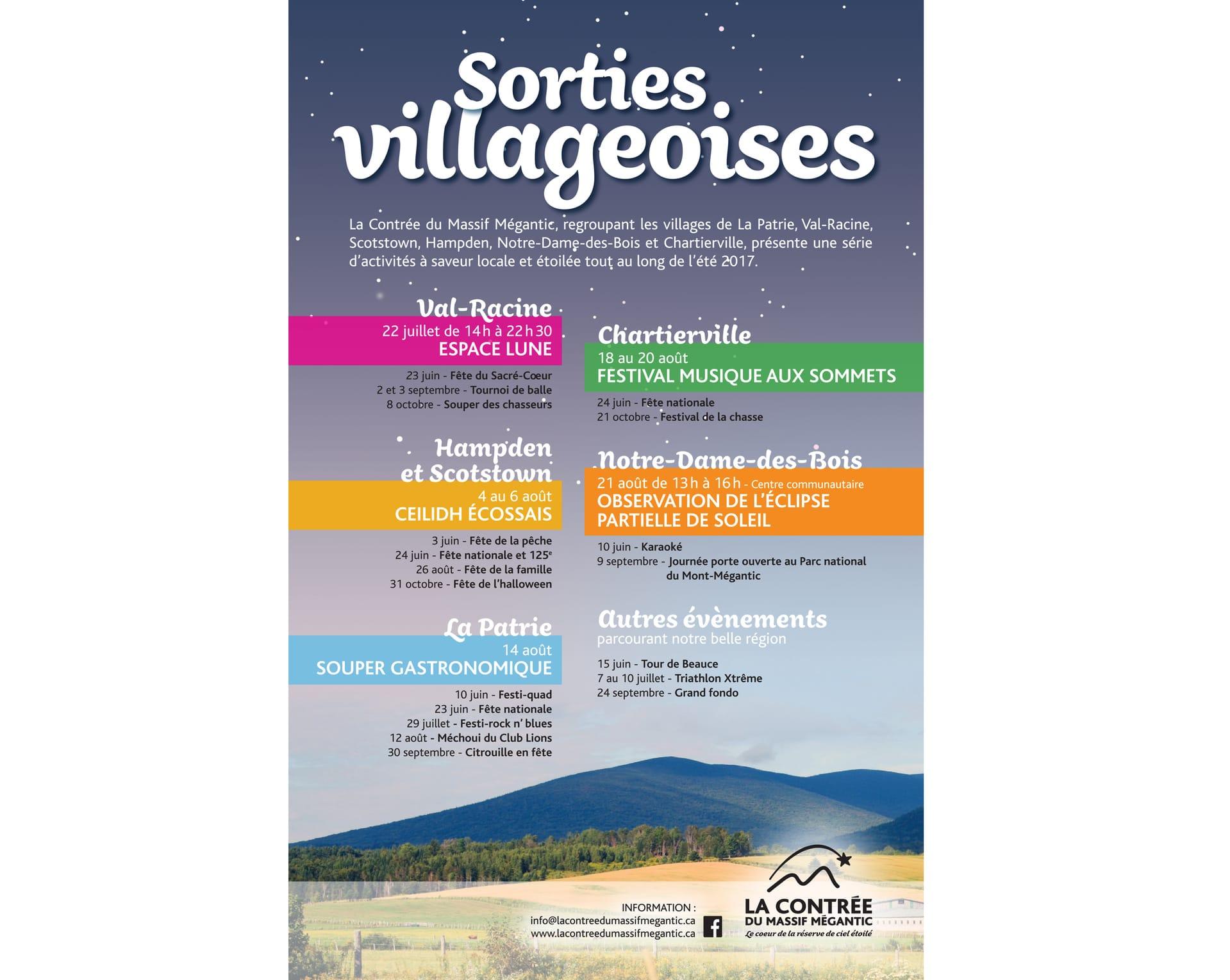 Espace Lune à Val-Racine, Sorties villageoises, activité gratuite