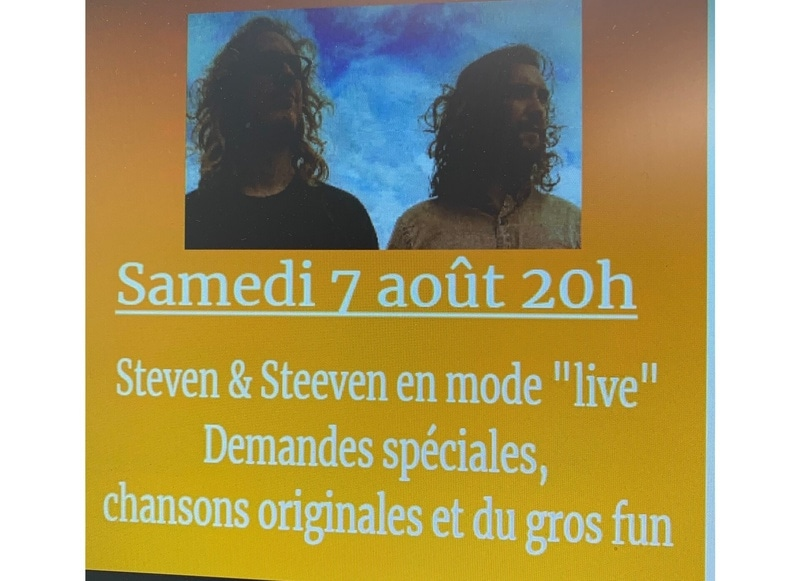 """Steven & Steeven en mode """"live"""" 'Sous le soleil...sous les étoiles'"""