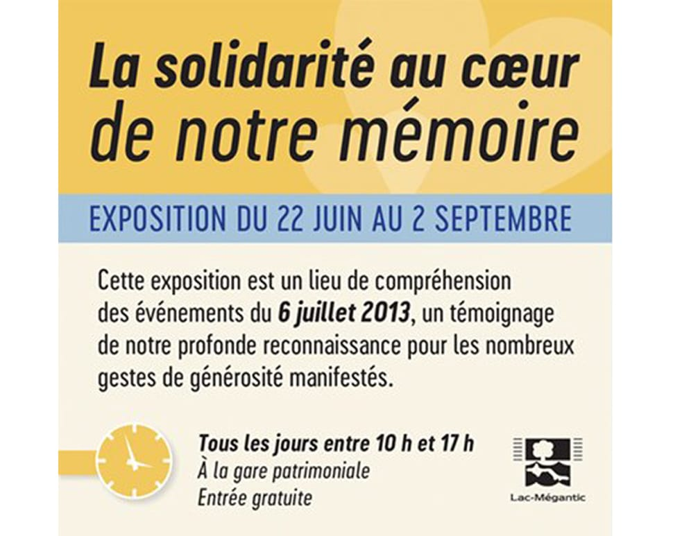 Exposition: La solidarité au coeur de notre mémoire