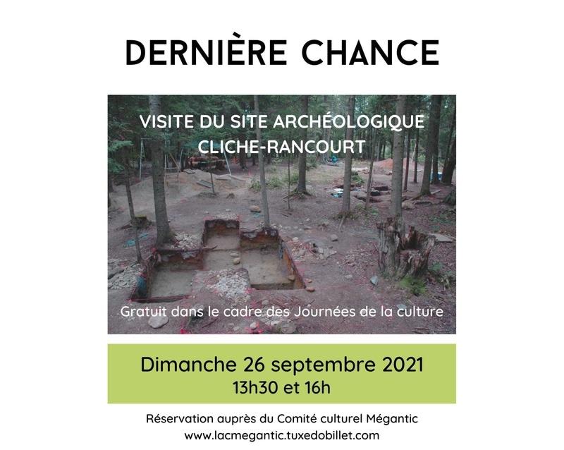 Visite du Site Archéologique Cliche Rancourt