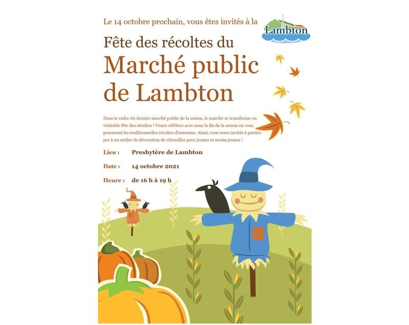 Marché public de Lambton - Fête des récoltes