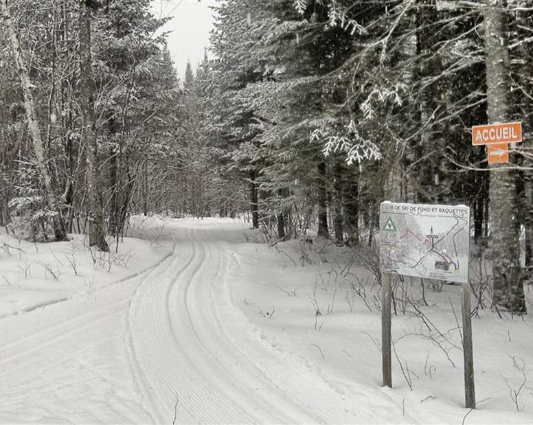 Cross country skiing and snoeshoeing paths in St-Romain