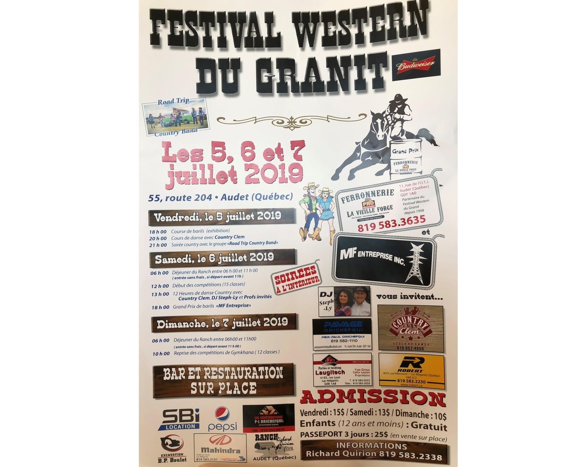Festival Western du Granit, dates à confirmer
