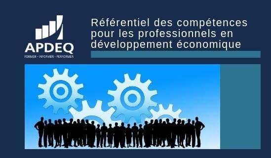 Référentiel des compétences pour les professionnels en développement économique