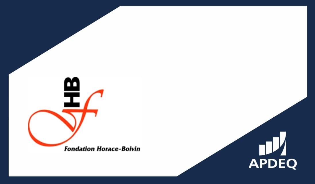 Bourses de la fondation Horace-Boivin