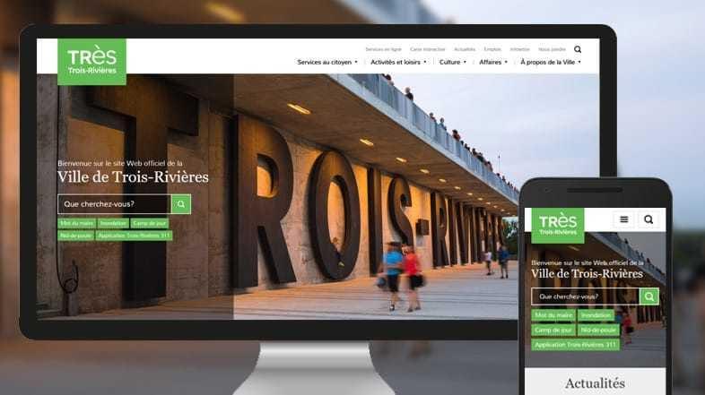 Le site web de la Ville de Trois-Rivières, une réalisation de LANEC!